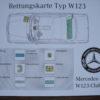 Rettungskarte-w123