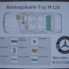 Rettungskarte-w124